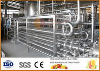 China 4T/day Juice Paste And Jam Tube In Tube Sterilization Equipment factory