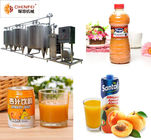 220V / 380V Fruit Juice Processing Equipment PLC Control For Peach / Apricot