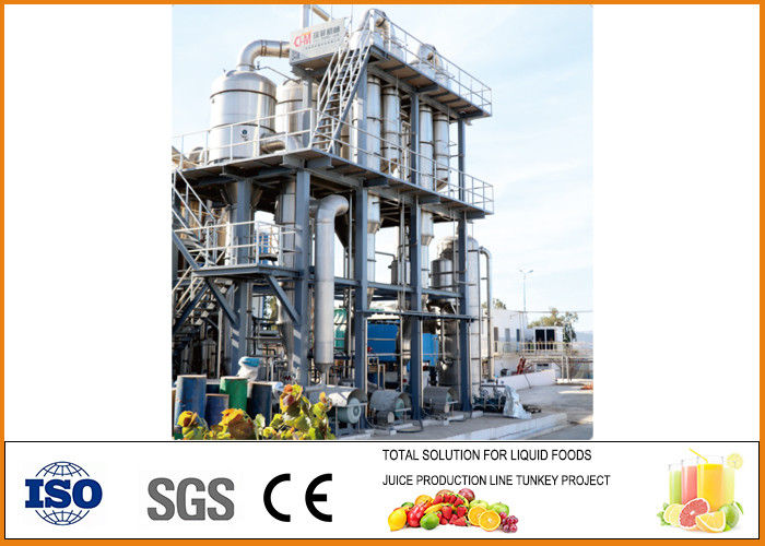 Circulation Type Multiple Effect Falling Film Evaporator Customized Dimension
