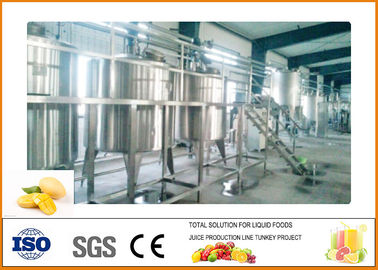 PLC Touch Screen 4T/D Mango Juice Production Line 200KW Power ISO9001