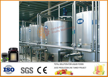 Complete Tomato Paste Processing Line , Mulberry Jam Production Equipment